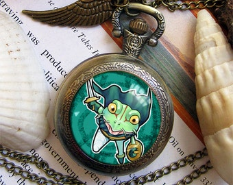 Chrono Trigger Crono Marle Frog Magus Robo Nu pocket watch necklace pendant dome glass bronze antique  keychain key chain