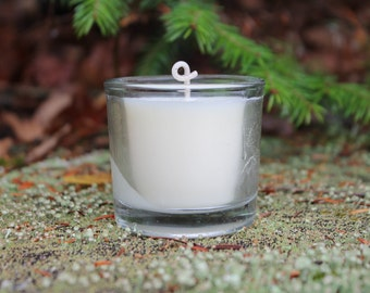 Votive Candle-Heavy Weight Recycled 2.5oz Clear Glass Votive-Vermont Cottage Candles