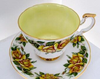 Yellow Roses Porcelain Tea Cup Set Paragon Hany Wheatcroft