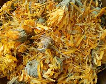 1-6 Cups Dried CALENDULA Flower WHOLE Organic Herb Medicinal, 1 2 3 4 5 6 oz Cups