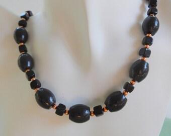 Blackstone and Copper Necklace
