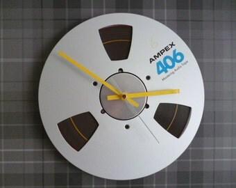 Tape Reel Clock Music Studio Tape Unique Wall Clock Geek Chic