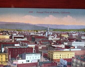 Birds Eye View Eureka CA 1900s