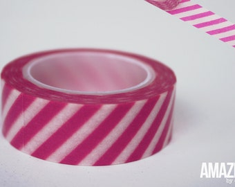 pink & white airmail striped washi tape - Paper Masking Tape