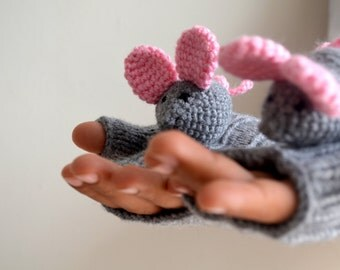 CAMPAİGN // Original Design Cute Mice gloves, mice gloves,holiday finds, fingerless gloves ,children clothing, gift, birthday, boy, girl