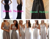 Convertible Bridesmaid Dress Formal Dress Cocktail Dress Mermaid Dress Wrap Dress Bridesmaid Skirt Maxi Romantic Long Skirt Color Samples