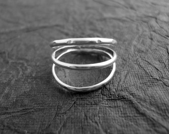 3 Band Ring Solid 925 Sterling Silver