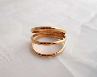 3 Band Ring 14k Gold Filled