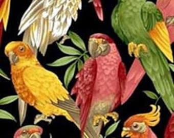 "Tropical BIRD Fabric Parrot - Cockatoo - Amazon - Macaw - 60"" W"