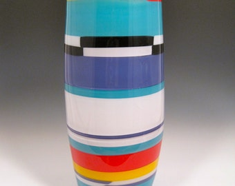 Bohemia, hand blown glass cylinder, tall