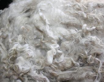 Raw White kid Mohair // Angora goat fleece