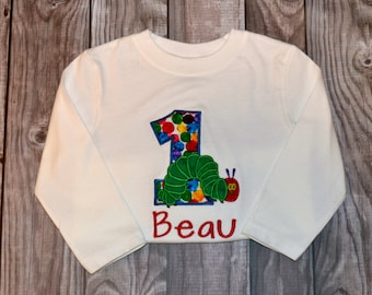 Very Hungry Caterpillar 1st Birthday Shirt Personalized