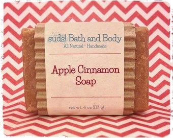 Apple Cinnamon Soap - All Natural Soap, Handmade Soap, Scented Soap, Gifts for Teachers