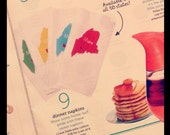 Stocking Stuffer! I Love USA Napkins - Choose your Favorite State - As seen in HGTV Magazine