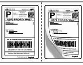 200 USPS Packing Half Sheet Shipping Labels 2 per Sheet