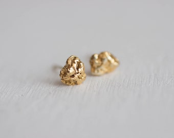 Natural Gold Nugget Stud Earrings | Alaska + Canadian Provinces + Territories