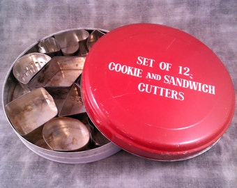 Vintage Set of 12  Cookie and Sandwich Cutters