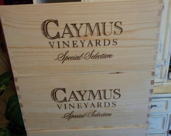 Caymus Vineyards/ Wine Crate/ Wedding Decor / Napa Valley / Wedding Card Box/  Organization/Garden Box/ Planter Box