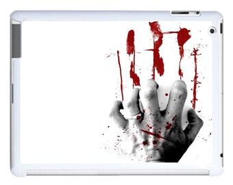 iPad 2/3/4 - iPad Mini - snap on plastic case - Zombie Blood Hand