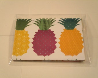 6 4-Bar Pineapple Envelopes with Notecards