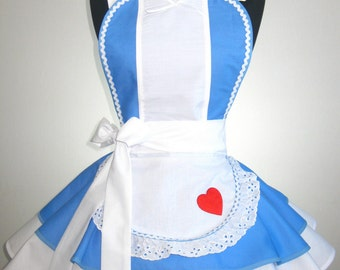 Alice in Wonderland Inspired Apron