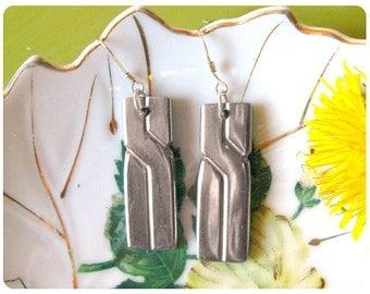 Elyse Spoon Earrings, Upcycled, Repurposed, Spoon Jewelry, Modern