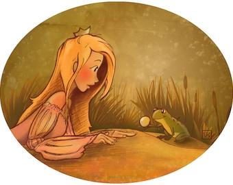 The Frog Prince ACEO Mini Art Print
