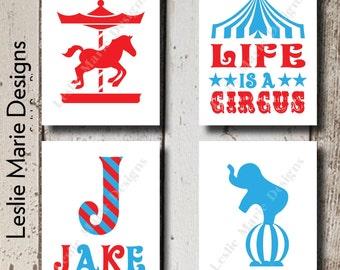 Circus Wall Art   Circus Prints   Circus Signs   Carnival Signs   Circus Decor   Printable Wall Art   Initial Art   Circus Nursery Art