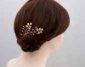 Swarovski Pearl Wedding Hair Pin, Pearl Bridal Hairpins, Pearl Wedding Hair Vine, Swarovski Bridal Hair Piece, Pearl Bridal Hair Accessory
