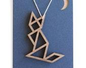 tangram pendants: foxy cat necklace