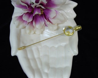 Pretty Vintage Murano Glass Hat Pin or Stick Pin