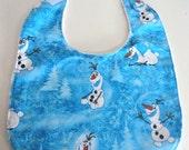 Olaf Frozen Baby Bib, Organic Chenille Baby Bib
