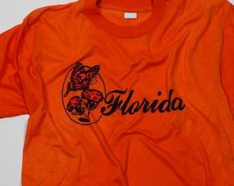 Medium Florida Orange Vintage Tshirt | 5AA
