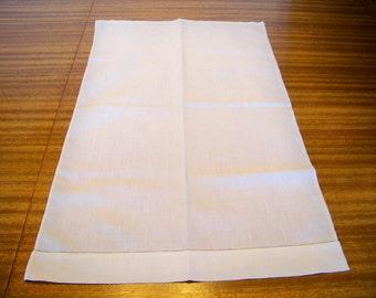 Antique White Linen Towel