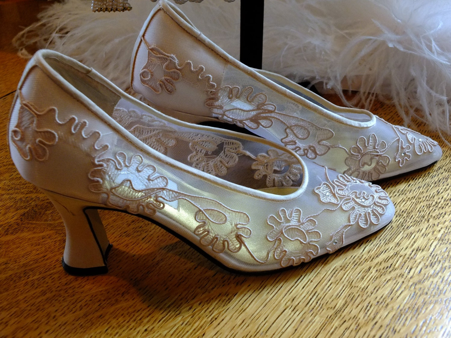 lace wedding shoes lace wedding shoes sz 9 vintage bridal by retrovintageweddings 5381