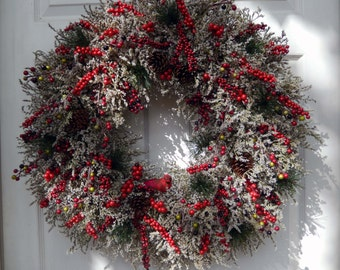 Christmas Wreath , Christmas Wreath For The Door , Holiday Wreath , XL Christmas wreath , Winter Wreath , Holiday Door Wreath