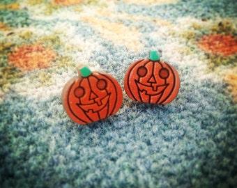 Halloween Pumpkin Stud Earrings