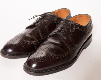 Mens Wingtip Broghs Shoes Size 11D