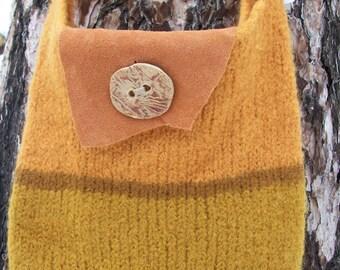 Pumpkin Orange felted purse