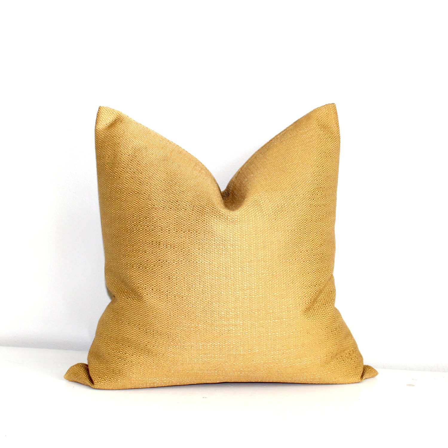 Gold Decorative Pillow Covers : Gold Pillow Throw Pillow Cover Decorative Pillow Solid