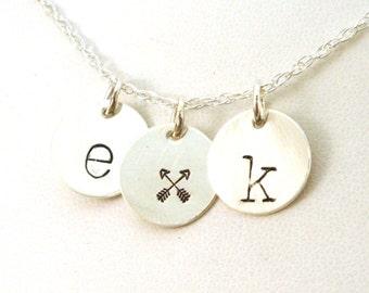 Best Friend Arrow Necklace / Crossed Arrow Friendship Necklace / Friendship Necklace for Two / Arrow Necklace / Couples Necklace