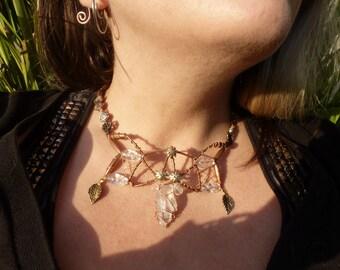 Quartz Steam OOAK necklace