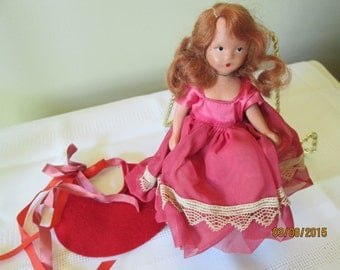 Vintage Storybook Doll, Childrens Toy, Doll Collector, Red Headed Doll, Ginger Head Doll