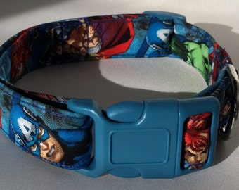 Avengers Dog Collar Size Extra Small, Small, Medium or Large
