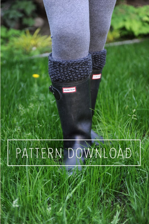 P A T T E R N // Boot Cuffs // Knit Boot Cuffs // Easy Seed Stitch Boot Cuffs // Boot Toppers