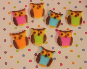 Owl Edible Sugar Pieces Toppers / Decorations / Supplies