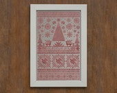 Scandinavian Christmas Sampler - Instant Download PDF Cross Stitch Embroidery Pattern