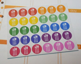 Meal Stickers, Rainbow Assortment-Set of 60