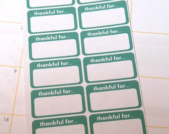 Daily Gratitude Stickers-Set of 28