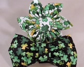 Dog Flower or Bow Tie -  A Wee Bit Irish Shamrocks